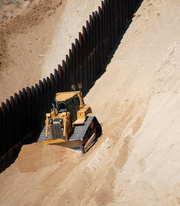 Mur gränsen mellan Texas och Mexico