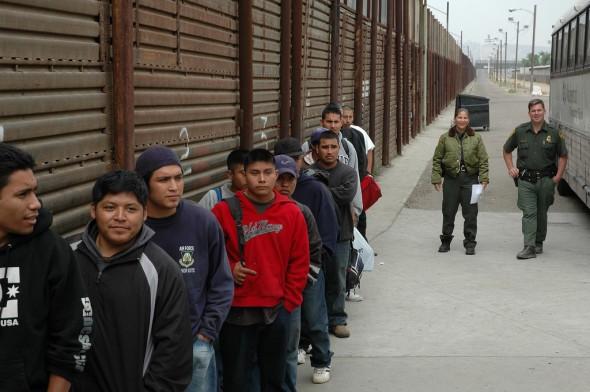 Gränsen mellan USA och Mexico
