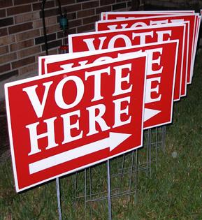 Rösta här. Val i USA
