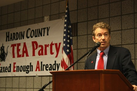 Rand Paul kampanjar med Tea Party