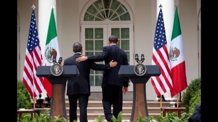 Barack Obama och Felipe Calderón