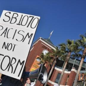 En politisk vinnare när Arizonas kontroversiella invandrarlag stoppas.