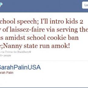 Sarah Palin, kakor och förmyndarsamhället.