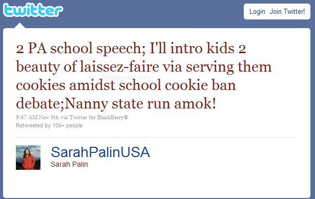 Sarah Palin twittrar