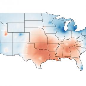 Det amerikanska tvåpartisystemet: Regionala förändringar 1920-2008.