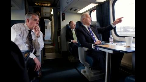 Joe Biden åker Amtrak