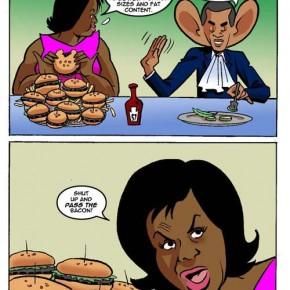"""Michelle Obama firade ettårsdagen av """"Let's Move"""" med tafflig konservativ satir."""