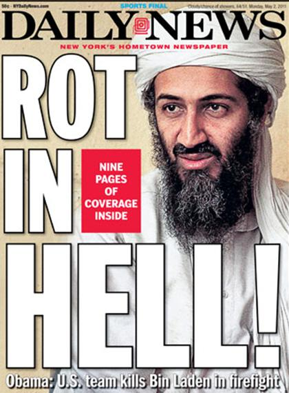 The New York Daily News, Osama bin Laden dödad
