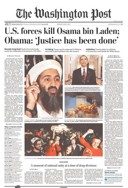 Washington Post, Osama bin Laden dödad