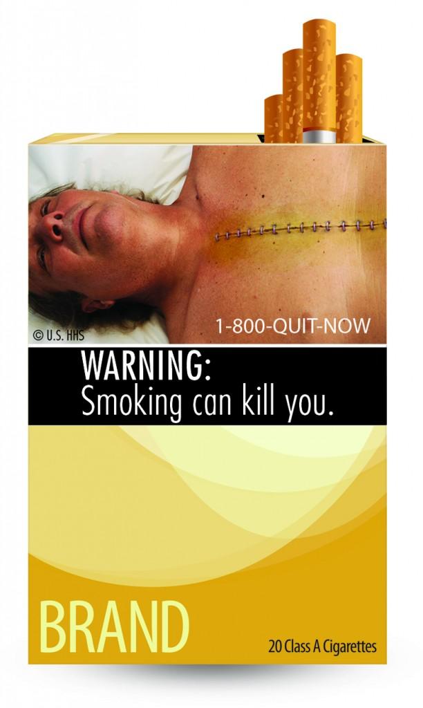 Varningsbild cigarettpaket i USA
