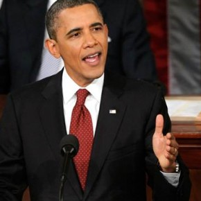 "Obama i sitt State of the Union: ""America is back""."